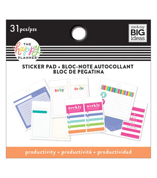 The Happy Planner 31 pk Sticker Pads-Productivity