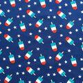 Doodles Interlock Knit Fabric 57\u0027\u0027-Patriotic Popsicles