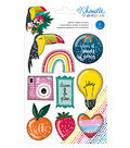 American Crafts Shimelle Box of Crayons 9 pk Glitter Shaker Stickers