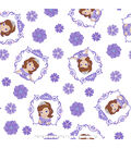 Disney Sofia the First Cotton Fabric -Framed
