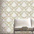 York Wallcoverings Wallpaper-Gold Damask