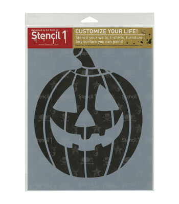 Stencil 1 Customize Your Life! 8.5''x11'' Stencil-Jack-O-Lantern 2