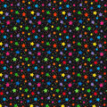 Novelty Cotton Fabric-Rainbow Multi Stars