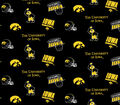 University of Iowa Hawkeyes Cotton Fabric -Black