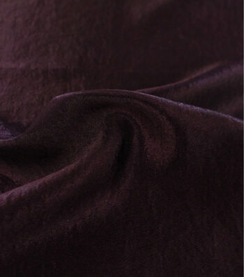 Casa Ember Collection Crushed Satin Fabric 54''-Blackberry Wine