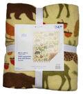 No Sew Fleece Throw 48\u0022-Wilderness Spice
