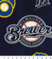 Milwaukee Brewers  Fleece Fabric-Cooperstown, , hi-res