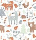 Nursery Cotton Fabric-Woodland All Over