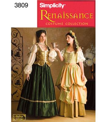 Simplicity Pattern 3809-Misses Renaissance Costumes
