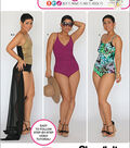 Simplicity Patterns Us1116Bb-Simplicity Misses\u0027 And Plus Size Swimsuits And Wrap Skirt-20W-28W