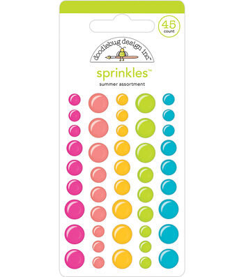 Doodlebug Design Sweet Summer Sprinkles Self Adhesive Enamel Dots-Summer