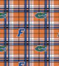 University of Florida Gators Fleece Fabric 58\u0022-Plaid