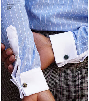 Simplicity Pattern 8427 Men's Fitted Shirt-Size BB (44-46-48-50-52)