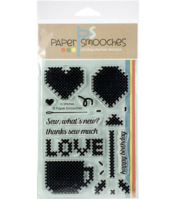 Paper Smooches 19 pk Clear Stamps-In Stitches