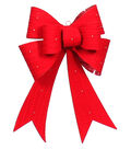 Maker\u0027s Holiday Christmas Cable Knit LED Bow-Red