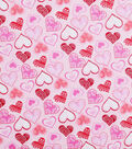Valentine\u0027s Day Glitter Fabric 43\u0027\u0027-Patterned Hearts
