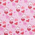 Valentine\u0027s Day Glitter Fabric -Patterned Hearts