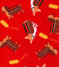 Snuggle Flannel Fabric -Weiner Dogs