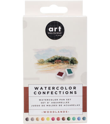 Prima Marketing Watercolor Confections Watercolor Pan Set-Woodlands