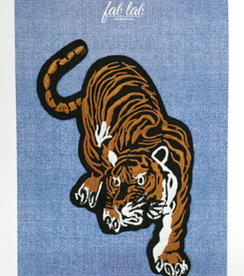 Fab Lab Wearables Tiger Iron-on Applique