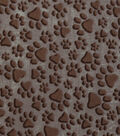 Novelty Cotton Fabric-Tan Paw Prints