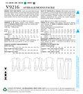 Vogue Pattern V9216 Misses\u0027 Tulip-Hem Vests & Pants-Size 6-8-10-12-14