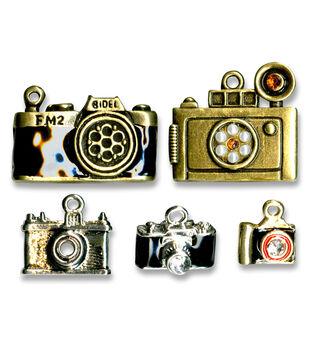 Blue Moon Beads 5 pk Camera Metal Charms-Multi