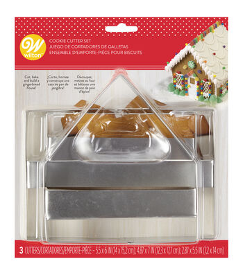 Wilton 3 Piece Gingerbread House Panel Cookie Cutter Set