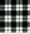 Snuggle Flannel Fabric-Melanie Black Plaid