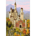 Neuschwanstein Castle Counted Cross Stitch Kit 14 Count