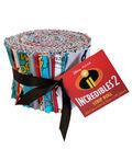 Disney Incredibles 20 pk Cotton Strip Rolls 2.5\u0027\u0027x-Multi