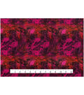 Keepsake Calico Cotton Fabric -Oil Slick Red Pink
