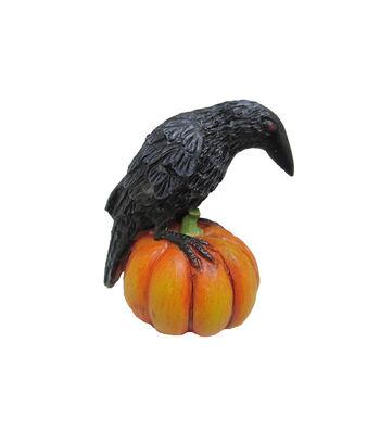 Maker's Halloween Littles Raven on Pumpkin