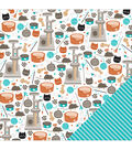 American Crafts Animal Kitties Double-Sided Cardstock
