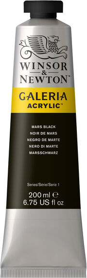 Winsor & Newton Galeria Acrylic 200ml Color Tube-Mars Black, , hi-res
