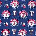 Texas Rangers Cotton Fabric -Logo
