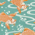 Waverly Sun N Shade Fabric 9\u0022x9\u0022 Swatch-Kool Koi Tropics