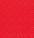 Christmas Cotton Fabric-Gold Dots Red