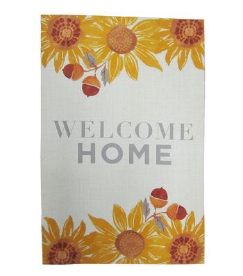 Simply Autumn 12''x18'' Flag-Welcome Home & Sunflower