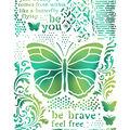 Stamperia Stencil G 8.27\u0027\u0027x11.69\u0027\u0027-Butterflies