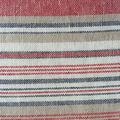 Linen Blend Fabric-Red Fiesta Stripes