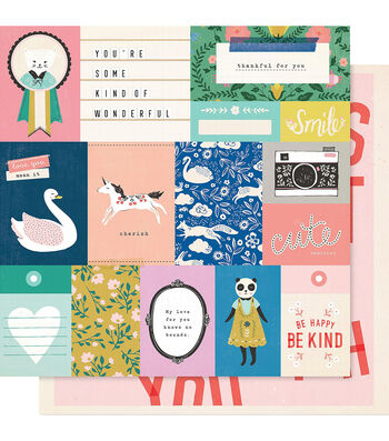 """Maggie Holmes Willow Lane Double-Sided Cardstock 12""""X12""""-Daydream"""