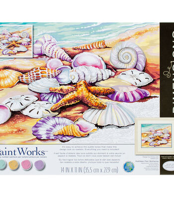 PaintWorks Paint by Number 11''x14'' Kit-Shells