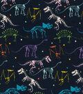 Novelty Cotton Fabric -Dino Bones