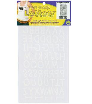 """Dritz Flock Letters-Lemonade 1"""" Font White"""