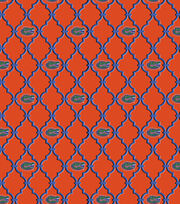 College Teams Florida Gators Cotton Fabric 44''-Trellis & Logo, , hi-res