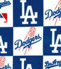 Los Angeles Dodgers Fleece Fabric -Block