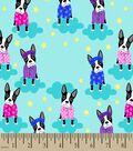Boston Terriers in Pajamas Print Fabric