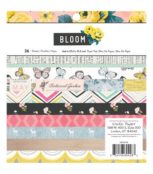 Crate Paper Maggie Holmes Bloom Pack of 36 6''x6'' Paper Pad