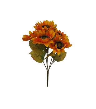 Blooming Autumn 16'' Sunflower Bush-Yellow & Orange